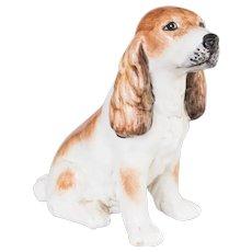 Vintage Mid-Century Italian Ceramic Spaniel Dog Figurine
