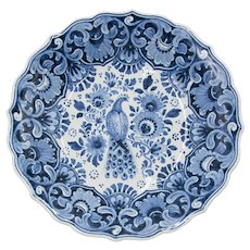 Dutch Delft Bird Footed Bowl
