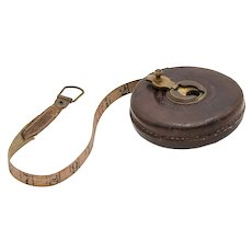 Antique English Leather Tape Measure
