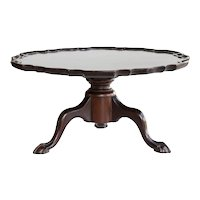 Antique English Mahogany Lazy Susan Tray