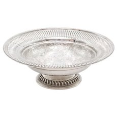 Antique English Silver Plate Pedestal Bowl