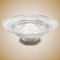 Antique English Silver Plate Pedestal Bowl