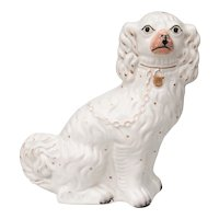 Large Antique English Staffordshire Spaniel Dog