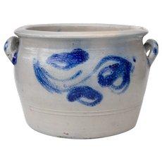 Antique Salt Glazed Stoneware Planter