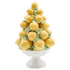 Vintage Italian Majolica Lemon Topiary