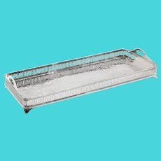 Silver Plate Rectangular Gallery Trophy Tray