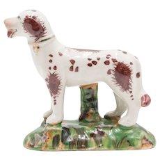 Early English Staffordshire Dog Figurine