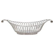 English Art Deco Silver Plate Bread Basket