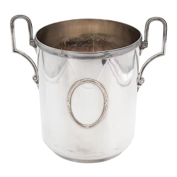 Vintage French Silver Plate Neoclassical Champagne Bucket