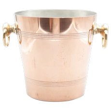 Vintage French Copper & Brass Champagne Bucket