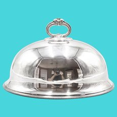 Antique English Silver Plate Meat Dome