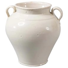 19th Century French White Confit Pot