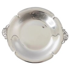Art Nouveau 1920s Sterling Silver Tray With Handles
