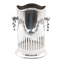 English Art Nouveau Silver Plate Wine Caddy Holder