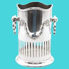 English Art Nouveau Silver Plate Wine Caddy Holder