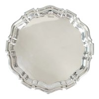 English Edwardian Sterling Silver Mappin & Webb Salver Tray 1907