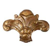 Antique Italian Giltwood Corbel Bracket