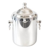 Vintage French Christofle Silver Plate Lidded Ice Bucket