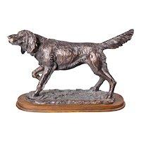 Antique English Bronze Sporting Dog Sculpture