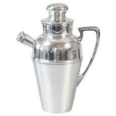 Art Deco English Hammered Silver Plate Cocktail Shaker