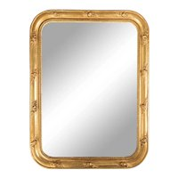 Antique 19th Century French Louis Philippe Beaded Gilt Mirror