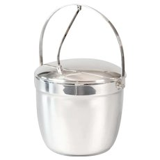 Vintage Silver Plate Ice Bucket With Hinged Lid