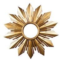Mid Century French Giltwood Sunburst Mirror