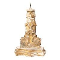 Antique Italian Giltwood Pricket Candlestick