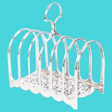 Art Deco English Silver Plate Toast Rack