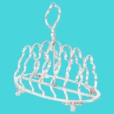 Art Nouveau English Silver Plate Toast Rack