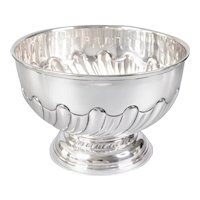 Antique English Silver Plate Hand Chased Footed Bowl Planter Ice Bucket