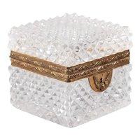 Antique French Cut Crystal & Ormolu Box