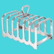 Art Deco English Sheffield Silver Plate Toast Rack
