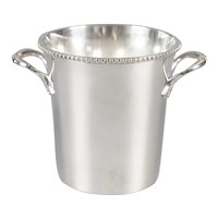 Vintage French Petite Silver Plate Ice Bucket