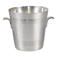 Art Deco French Silver Plate Ice Bucket