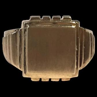 Vintage Men's/Ladies Signet Ring 14K Yellow Gold