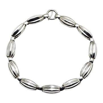 Napier Sterling Silver Modernist Choker Necklace