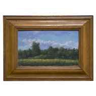 RON SCHAEFER (American, b. 1944). Summer Landscape. Oil on Board.