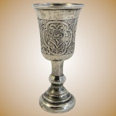 "Antique Russian ""84"" Silver Kiddush Cup"