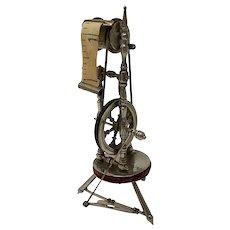Victorian Novelty Spinning Wheel Measuring Tape