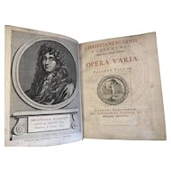 1724 Christiaan Huygens' Works (Hugenii Opera Varia) Vols. 1 & 2