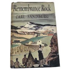 "1948 Signed First Edition of ""Remembrance Rock"" by Carl Sandburg"