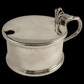 Vintage English George V Sterling Silver Mustard Pot