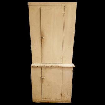 Large step back kitchen cabinet
