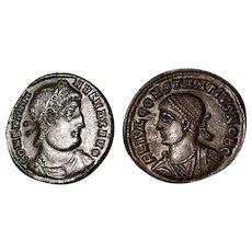 Roman or Greek Ancient Antique Copper Coins