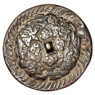 13-14th c Yuan Dynasty Bronze Mirror Chinese Antique with Birds and Flowers