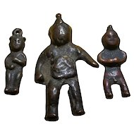 12th-18th c Bronze Child Figurines Turk Hun Mongolia (set of three)
