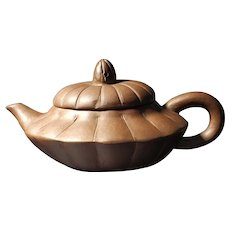 Handmade Purple Clay Zisha Teapot Chinese Vintage