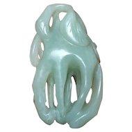 14-17th c Bergamot-Shaped Pendant Hetian Jade