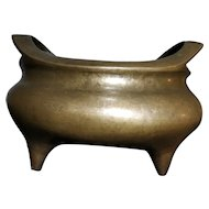 Huge 3kg Qing Dynasty Bronze Incense Burner Urn